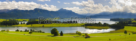 panorama landscape in bavaria with forggensee