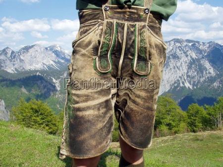 men leather trousers lederhosen tracht mode