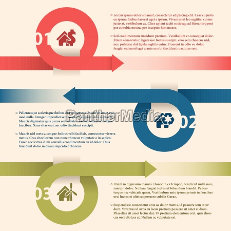 infographic design with arrows and house