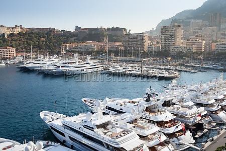 row of yachts in monaco port