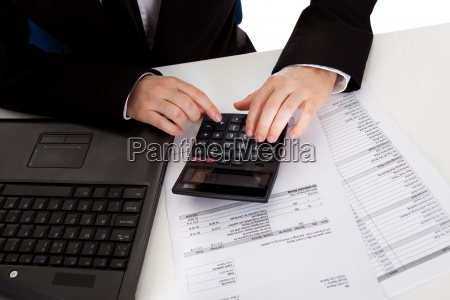 accountant doing calculations