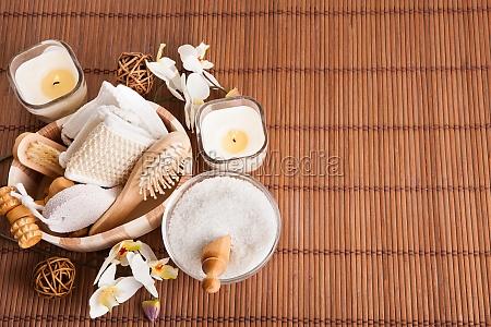 bathing spa kit with sea salt