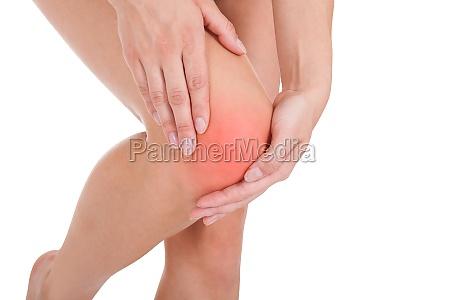 woman having leg injury