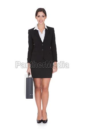 smiling confident businesswoman