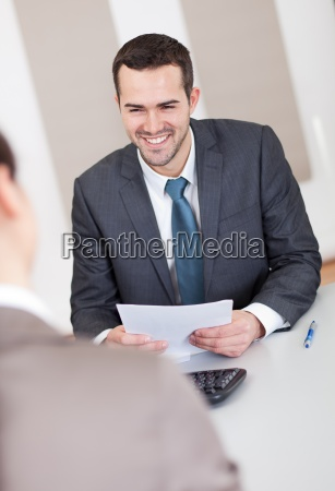 young businessman at the interview
