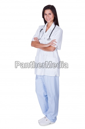young female doctor or nurse