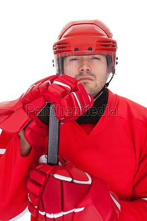 portrait of professional hockey player