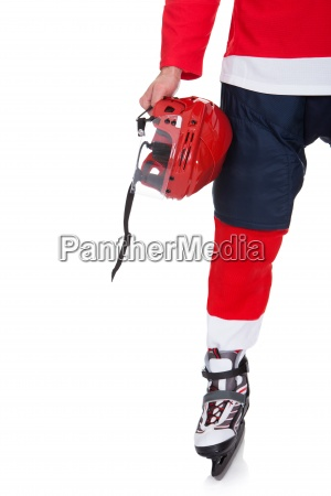 professional hockey player after game