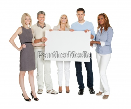 casual group of people holding a