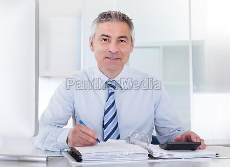 mature businessman at work