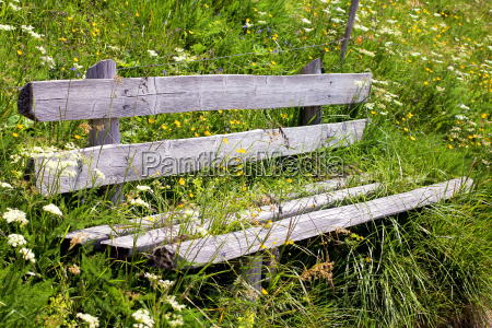 wooden bench to rest