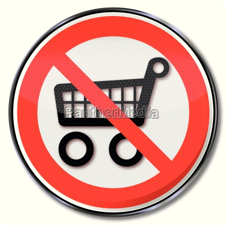 prohibition sign for shopping carts and