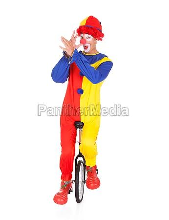 funny joker performing