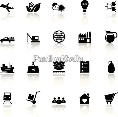 supply chain and logistic icons with