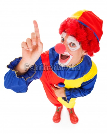 joker with raised finger