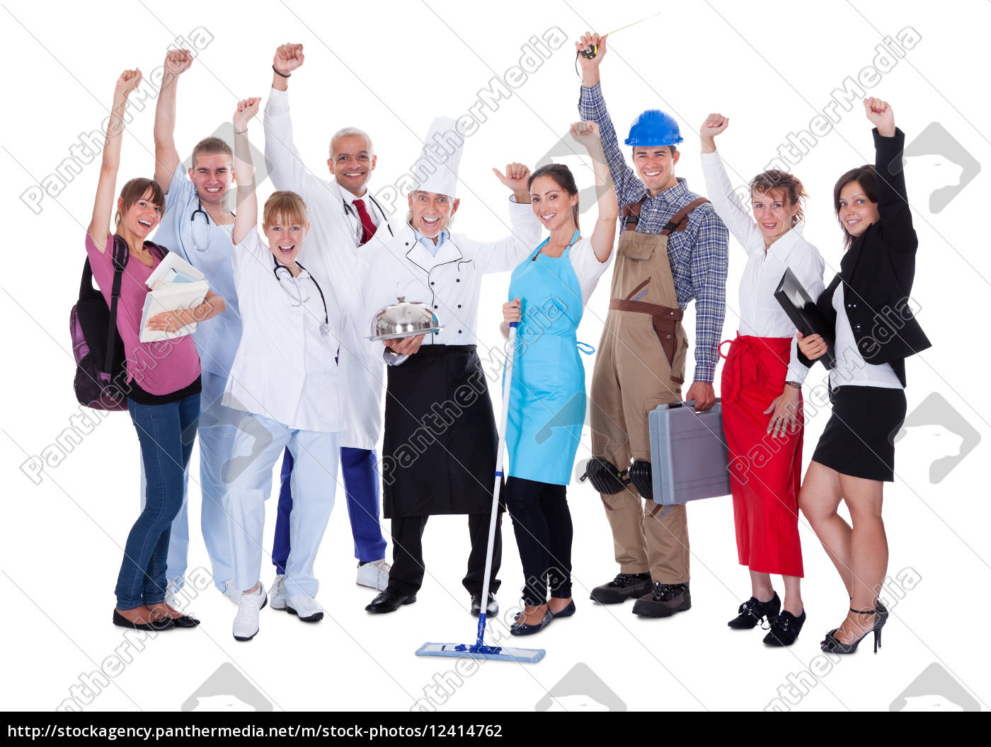 group, of, people, representing, diverse, professions - 12414762