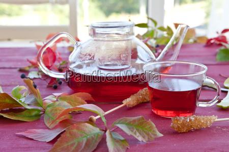 hot tea in autumn