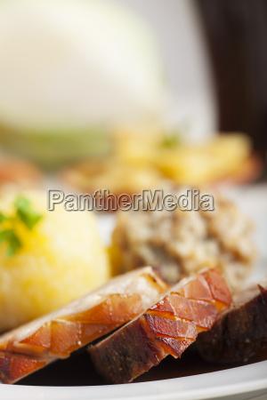 bavarian roast pork and beer