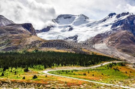 landscape view of columbia glacier in