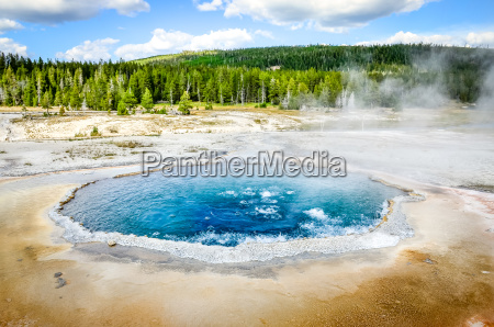 landscape view of crested pool in