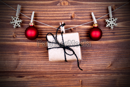 christmas gift and decoration on a