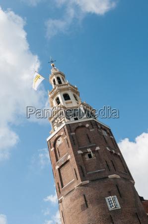 tower montelbaanstoren in amsterdam