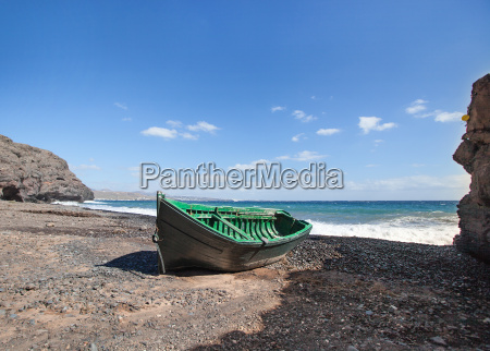 lanzarote wooden boat at the