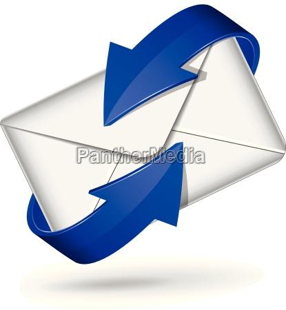 icono de correo vectorial