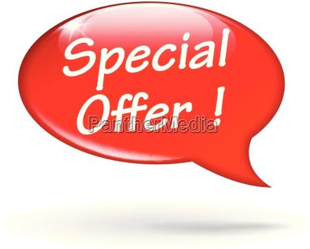 vector special offer speech bubble