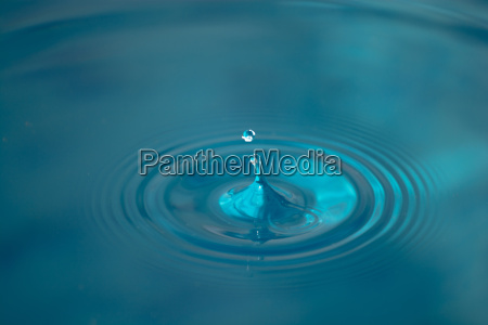water drops on a calm surface