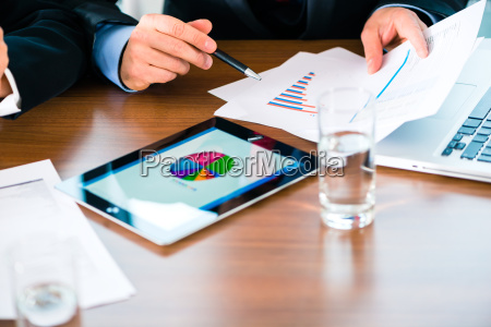 businessman working in the office at