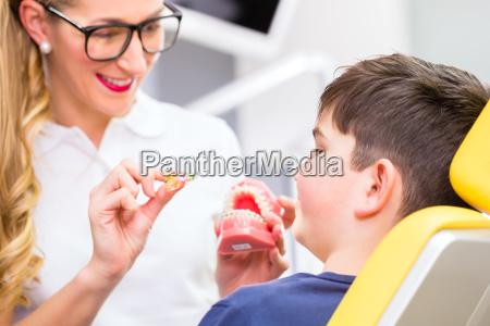 dentist explains braces young