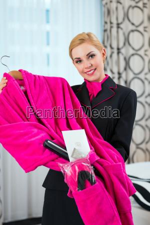 housekeeper takes care of vip set
