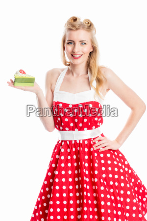 pin up girl with pie