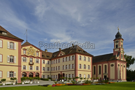 baroque castle and church mainau in