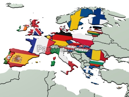 european union with national flags 3