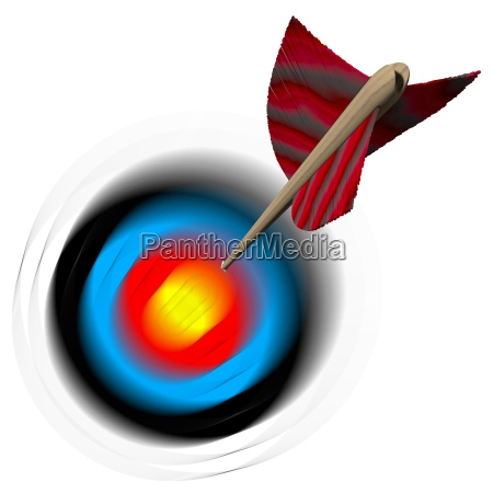 arrow flies towards target