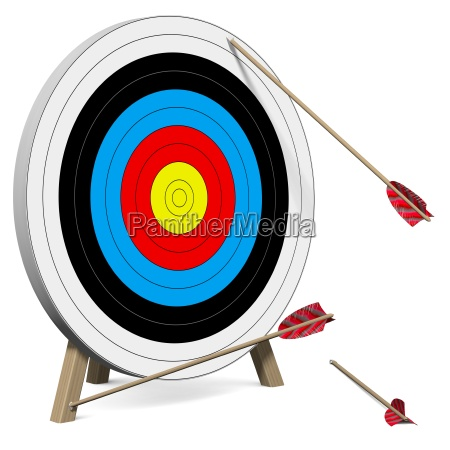 arrows do not hit the target