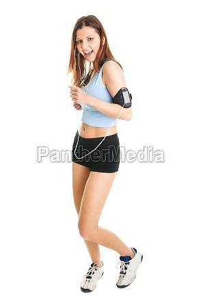 smiling fitness women
