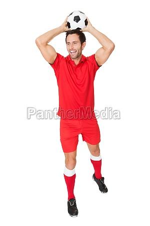 portrait of soccer player
