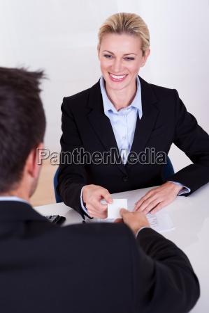 female business executive smiling