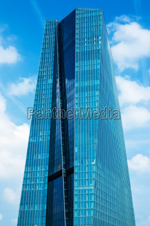 european central bank main building in