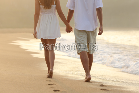 couple taking a walk holding hands