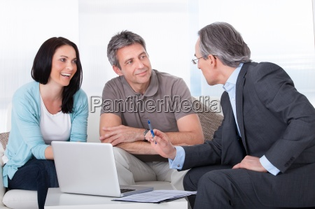 couple meeting consultant