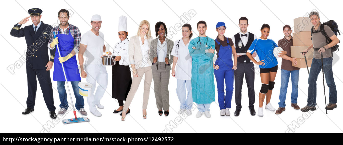 group, of, people, representing, diverse, professions - 12492572