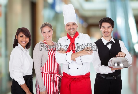group of restaurant staff