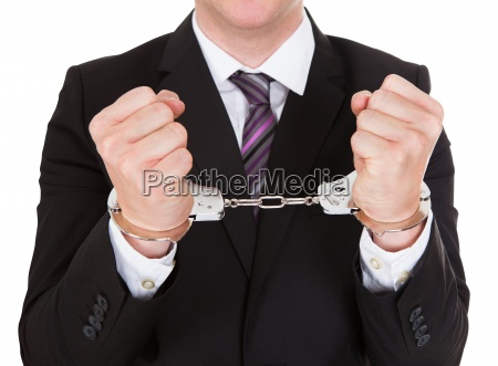 portrait of criminal businessman