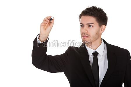 lavagna pannello ritratto persona uomo daffari