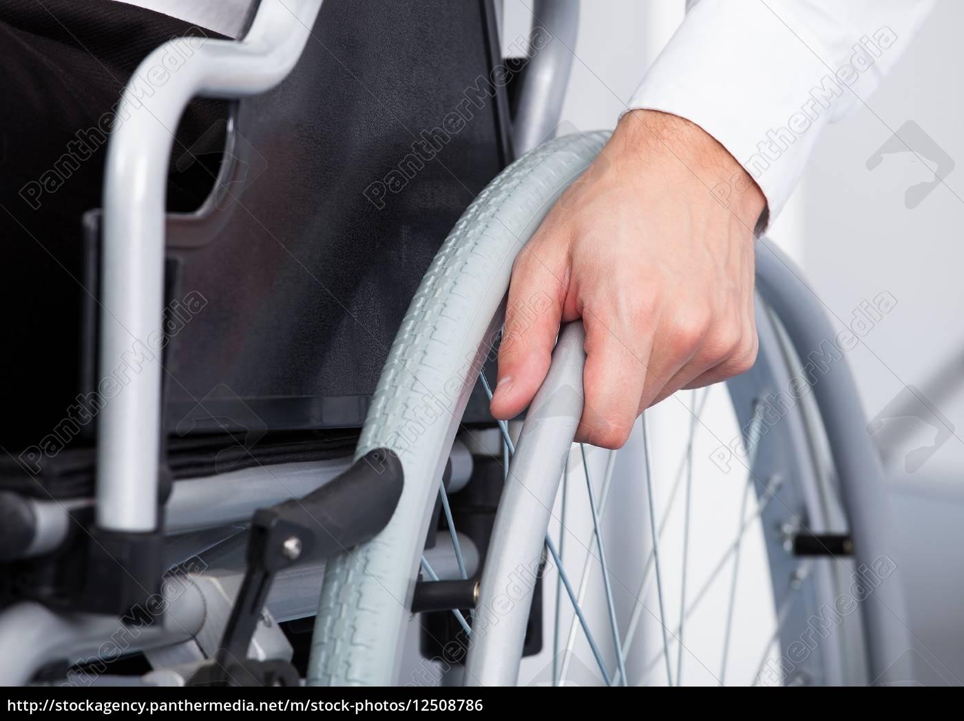 businessman, on, wheelchair - 12508786