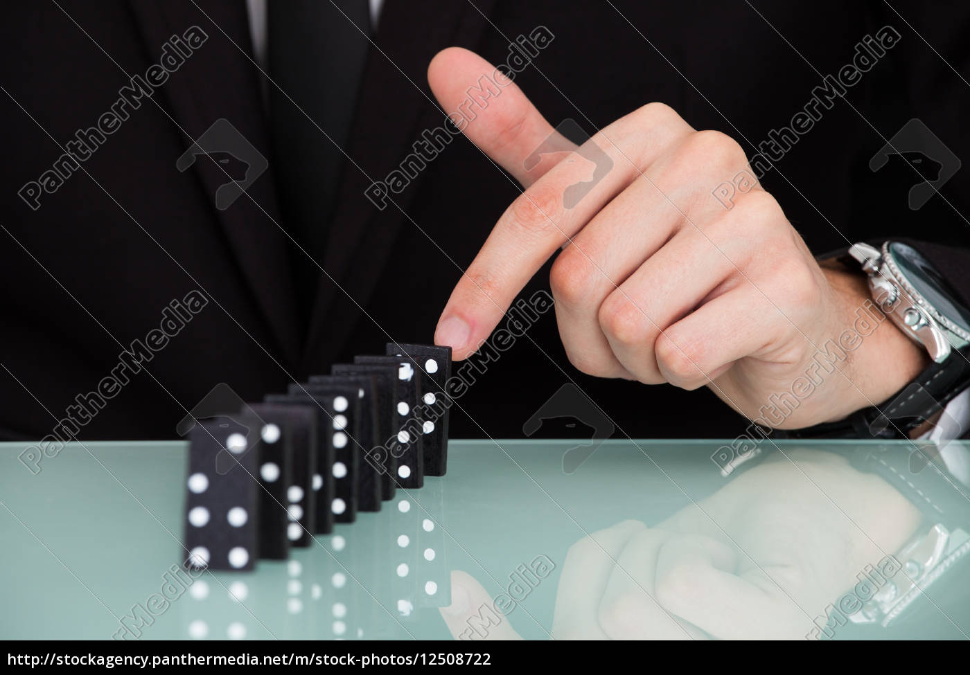 businessman, playing, domino - 12508722